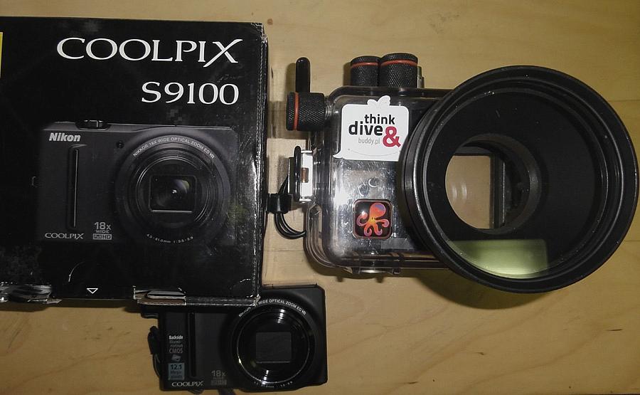Nikon Coolpix S9100 + obudowa podwodna Ikelite (używane)